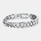 Men Titanium Steel Bracelet Removable Cool Bicycle Motorcycle Chain Bracelet Jewelry - Silver