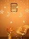 LED Estrella Luna Forma Lámpara Linternas Ambiente romántico Decoración Cadena de luces - Blanco