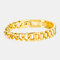 Men Titanium Steel Bracelet Removable Cool Bicycle Motorcycle Chain Bracelet Jewelry - Gold