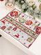 1 Pc décorations de noël tricoté napperon en tissu créatif tricoté napperon vieil homme petit arbre napperon - #04