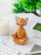 1 PC Resin Quiet Contemplation Buddha Cat Figurine Meditation Yoga Collectible Happy Cat Collection Cats Lover Gift Women Yoga Home Decor - #01
