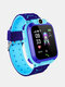 1.4inGPSポジショニングHDカメラボイスメッセージSOSアンチロストチレンスマートWatch電話LEDタッチスクリーン防水懐中電灯独立ダイヤルキッズスマートブレスレット - 青