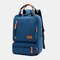 Women Waterproof School Bag Solid Large Capacity Backpack - Dark Blue