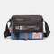 Nylon Waterproof Multi-function Crossbody Bag For Women Men - Blue