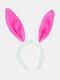 Accessoires de cheveux de femmes de pâques mignon oreilles de lapin coiffe enfants bandeau - Rose rouge