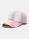 Unisex Cotton Tie-dye Contrast Color Fashion Sunshade Baseball Hat - Pink