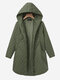 Fashion Hooded Pure Color Pocket Thin Coats