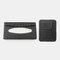 Multifunctional Leather Car Storage Bag Visor Cover Card License Holder Hanging Tissue Bag Glasses Folder - Black