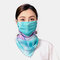 Summer Ear-mounted Printing Masks Neck Protection Sunscreen Scarf Shawl - Blue