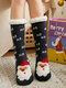 جوارب عيد الميلاد سانتا كلوز إلك للنساء Plus مخمل ينام جوارب أرضية عادية - القوات البحرية