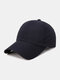 Unisex Quick-dry Solid Color Travel Sunshade Breathable Baseball Hat - Navy