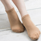 Women Cotton Soft Breathable Mesh Casual Boat Socks - Dark Brown