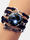 Vintage Twelve Constellation Women Bracelet LOVE Letter Multilayer Bracelet - Capricorn