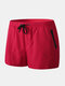 Mens Beach Board Shorts Waterproof Jogging Running Sports Breathable Gym Training Fitness Pants - Red