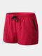 Мужские Пляжный Board Shorts Водонепроницаемы Jogging Running Sports Breathable Спортзал Training Фитнес Брюки - Красный