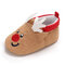 Baby Toddler Shoes Cute Cartoon Little Elk Round Toe Warm Soft Sole Cotton Snow Boots - Brown