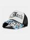 ユニセックスコットンスカルレターパターンメッシュ通気性サンシェード野球帽トラッカーハット - 白い