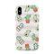 Женщина в полоску Розовый Cute Растение Кактус ТПУ Soft Shell Phone Чехол Для iPhone