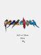 フェスティバルギフト複数の鳥ガラス窓ハンギングガーデンサンキャッチャーアクリル装飾品ホームパティオヤードの装飾 - #01