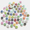 100 pcs Cute 15mm Printed Flowers Wooden Buttons Children's Clothing Accessories Buttons - #01