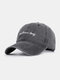 Men Cotton Made-old Letter Embroidery Sunshade Outdoor Casual Baseball Hat - Black