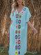 Women Weave Flower V-Neck Thin Sun Protection Cover Up Beach Maxi Dress - Blue