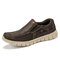 Menico Mens Light Weight Outdoor Walking Shoes Slip On Loafers - Coffee