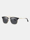 Unisex Wide Metal Frame Outdoor Fashion Driving UV Protection Polarized Sunglasses - #03