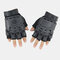 Outdoor Tactical Gloves Motorcycle Riding Mountaineering Half-finger Gloves - Black