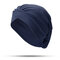 Women Solid Color Soft Flexible Beanie Hat Outdoor Casual Cross Folds Indian Hat