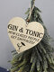 Placa de madeira para presente pendurada com chip de Natal de madeira Pingente Coração Decoração de garrafa de vinho em forma de etiquetas para casa - #01