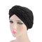 Damen Soft Besticktes Stirnband Multicolor Twist Braid Turban Cancer Cap