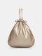 パンク天然ゴム汚れたひもデザイン多機能大容量ワークノートブック電話バッグベルトバッグ - ゴールド
