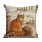 Retro Style Cats Leinen Baumwolle Kissenbezug Home Sofa Art Decor Throw Kissenbezug - #10