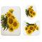 180X180cm Sunflower Polyester Printing Waterproof Mildew Shower Curtain - 3Pcs Floor Mats