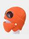 Men & Women Plus Velvet Thick Warm Neck Face Ear Protection Headgear Knitted Hat Mask Pilot Glasses - Orange