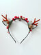 12 Pcs Christmas Children Hair Accessories Cute Cat Ears Elk Headdress Headband - #02