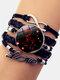 Vintage Twelve Constellation Women Bracelet LOVE Letter Multilayer Bracelet - Cancer