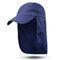 Men Women Outdoor Sports Cotton Wild Cap Casual Visors Breathable Baseball Cap - Dark Blue