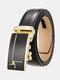 Men Rectangular Alloy Automatic Buckle Casual Business Belt - #09