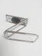 1PC亜鉛合金ユニバーサル折りたたみ式携帯電話アクセサリーブラケット360回転ダブルフィンガーリフトリングホルダー車携帯電話用磁気マウントスタンド - 銀