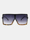 Women Oversized PC Full Square Frame UV Protection Fashion Sunglasses - Tortoiseshell