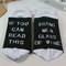 Mens Women Cotton Humor Words Printed Socks Casual Sport Lovers Socks - White+Black