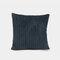 Nordic Solid Color Cord breit und schmal gestreift Flanell Kissen Schlafzimmer Sofa Autokissenbezug - Marine