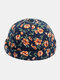 Unisex Floral Overlay Pattern Fashion Young Brimless Beanie Landlord Cap Skull Cap - Blue