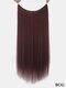 10 цветов длинные прямые Волосы удлинители химического волокна без следов ложные Волосы шт. - #10