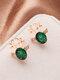 Christmas Crystal Gem Women Ear Stud Stereoscopic Reindeer Earrings - #12