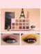 15 Colors Sequins Glitter Earth Color Eyeshadow Palette Pearlescent Waterproof Eye Makeup - #01