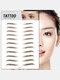 3D Eyebrow Tattoo Sticker Long Lasting Waterproof False Eyebrows Cosmetics - 14 Brown