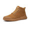 Men Rubber Cap Toe Tight Stitched Pigskin Leather Slip Resistant Tooling Boots - Brown
